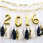 """1 pc Gold 40"""" NUMBERS Festive Mylar Foil Balloon Party Birthday Decorations"""