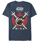 Star Wars Rogue One X-Wing Red Squadron Rebel Adult Unisex T-Shirt - Blue