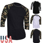 Mens Slim Fit Casual T-shirt Half Sleeve Bodybuilding Muscle camouflage clothing
