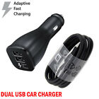sumsung galaxy 5 - OEM Samsung S6 S7 Note 4 5 Dual USB Adaptive Fast Rapid Car Charger /Cable Lot