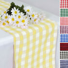 "14"" x 108"" Gingham Checkered Table Runner Wedding Party Dinner Decorations SALE"