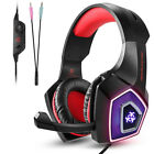 V1 Professional LED Light Gaming Headset Noise Cancelling Headphones with Mic