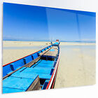 Design Art 'Long Tail Boat Stand at the Beach' Photographic Print on Metal