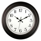 Large Indoor Outdoor Decorative Modern Wall Clock with Quiet Movement 14 Inch