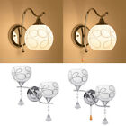Modern LED Crystal Wall Light Lamp Hallway Porch Bedroom Sconce Lighting Fixture