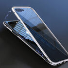 Luxury Magnetic Metal Case For iPhone XS MAX XR X 7 8 6Plus +Free Tempered Glass