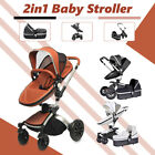 2-in-1 360° Baby Pram Stroller Pushchair Car Seat Carrycot Travel System Buggy