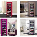 New Portable 10 Layer 9 Grid Shoe Shelves Rack Storage Closet Organizer Cabinet