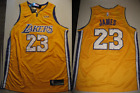 New Lebron James 23 Los Angeles Lakers Swingman Gold Yellow Wish Jersey L XL