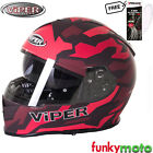 NEW-VIPER RS-V11 FULL FACE HELMET MOTORBIKE CAMO RED ECE ACU APPROVED PINLOCK