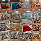 LARGE THICK SOFT NOBLE HOUSE 100% ACRYLIC DIAMOND DESIGN HANDMADE RUGS BY THINK