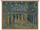 Van Gogh's Starry Night Over the Rhone Belgian Woven Art Tapestry Wall Hanging