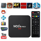 New Smart TV Box Android 7.1 4K Quad Core HDMI HD Media Player Remote Keyboard