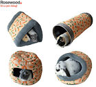 *NEW* ROSEWOOD LUXURY PLUSH SMALL ANIMAL RABBIT GUINEA PIG CARROT BEDS & TUNNELS