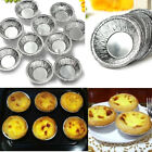 250pcs Disposable Silver Foil Baking Cookie Muffin Cupcake Egg Tart Mold Round