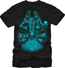 Star Wars Millennium Falcon Glow In The Dark Licensed Adult Unisex T-Shirt - Blk $18.99 USD on eBay
