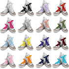 Ribbon Shoe Laces with LOGO Aglets For Blinged Lo & Hi Tops Kids Junior Adults