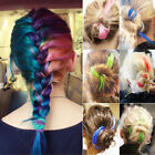 2PCs Womens Multi Color Clip in on Hair Extensions Piece Straight Synthetic New