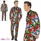 Adults Day of the Dead Suit Mens Womens Couples Halloween Fancy Dress Outfit