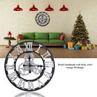 Modern Home Decor Wall Clock Large Round Gold/Silver Color Vintage 3D Wall Clock