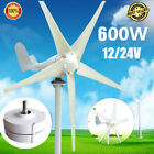 Max 600W 12V 24V Horizontal Wind Turbine Generator 3/5 Blade Power Windmill