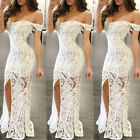 Sexy Womens Long Maxi Prom Dress Off Shoulder Bodycon Dress Evening Party Gown