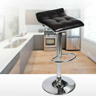Set Of 4 Bar Stools Pub Chair Adjustable PU Leather Swivel Seat Counter Dining