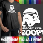 Support Our Troops Star Wars Stormtrooper Ultra Soft Mens/Unisex V-Neck T-Shirt $16.34 USD on eBay
