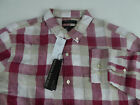 Banana Republic Camden Standard Fit Plaid 100% Linen LS Shirt $79.50 NWT Red Tan