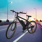 26inch Road City E-Bike Electric Bicycle Fat Tire Mountain Bike Lithium Battery