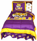 College Covers NCAA LSU 2 Piece Reversible Comforter Set
