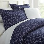 Home Collection Ultra Soft Midnight Blossoms Pattern 3 Piece Duvet Cover Set image
