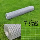 Square Wire Netting Garden Fencing Galvanized Thickness Various Sizes 10m 25 M