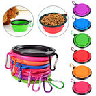 SF:Pet Dog Portable Silicone Collapsible Feeding Bowl Food Water Dish Feeder New