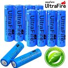10X 18650 Battery 6000mAh 3.7V Li-lon Rechargeable Charger For Flashlight Torch