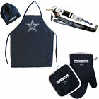 chef hat & apron bbq oven mitt pot holder lanyard COMBO set tailgating NFL PICK