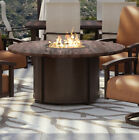 Homecrest Outdoor Living Chat Polyresin Top/Aluminum Base Propane Gas Fire Pit