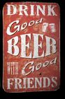 Williston Forge 'Good Beer' Textual Art on Wrapped Canvas