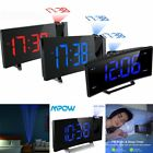 MPOW Projector Projection Digital Time Weather Snooze Alarm Clock w/ LED light