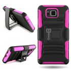 For Samsung Galaxy Alpha Armor Hybrid Impact Case Belt Clip Holster Cover