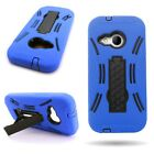 Rugged Hybrid Drop Protection Phone Stand Cover Case for HTC One Remix / Mini 2
