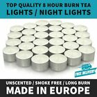🔥🔥white Unscented 8 Hour Burn Tea Light Candles - Long Burn Time -made In Eu🔥