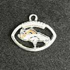 Denver Broncos Football Round Charm Free Tracking Key Chain Ring New on eBay