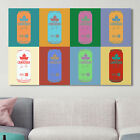'Molson Canadian Cans Popart' by PPI Studio Graphic Art on Wrapped Canvas