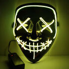 3-Modes The Purge Movie Scary Mask Cosplay Led Costume Mask EL Wire Light Up