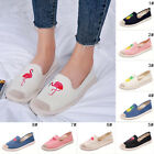 Womens Canvas Loafers Flat  Ankle Strap Hemp Bottom Espadrilles Slip-On Shoes