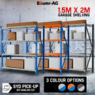 Baumr-AG 1.5x2m Metal Warehouse Racking Storage Garage Shelving Steel Shelves