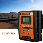 12/24V 30/50/70A MPPT Solar Charge Controller Panel Battery Regulator Dual USB