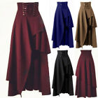 Halloween Long Dress Gothic Flared Women High Waist Lolita Skirts Swing Sundress