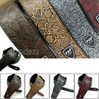 Adjustable Leather Guitar Strap Embossed For Acoustic Electric Guitar Strap